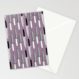 Double Knives in Mauve Stationery Cards
