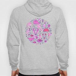 Sea pattern no 2 (pink) Hoody