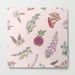 Wildflowers (Pink) Metal Print