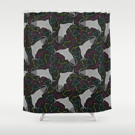 Astro Shark is a Space Oddity Shower Curtain