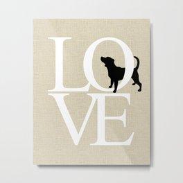 Love - beagle Metal Print