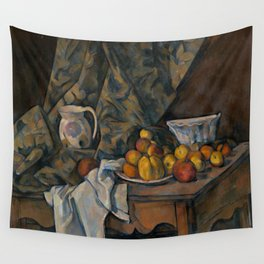 Paul Cezanne - Still Life with Apples and Peaches Wall Tapestry