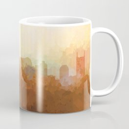 Nashville, Tennessee Skyline - In the Clouds Coffee Mug