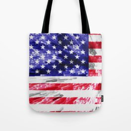 American Flag Extrude Tote Bag