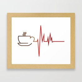 Coffee Heartbeat Framed Art Print