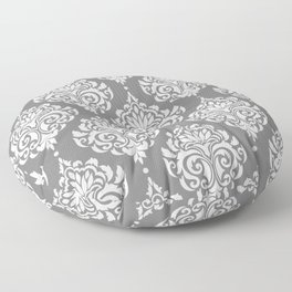 Grey Damask Floor Pillow