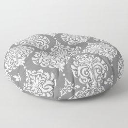 Grey Damask Floor Pillow