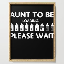 Aunt To Be print Funny Pregnancy product For Aunts Serving Tray