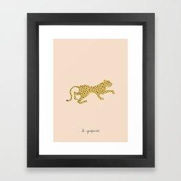 le guépard Framed Art Print