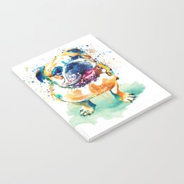 Watercolor Bulldog Notebook