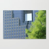 cities Canvas Prints featuring cities by sannngat