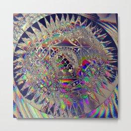 84-26-49 (Mandala Glitch) Metal Print