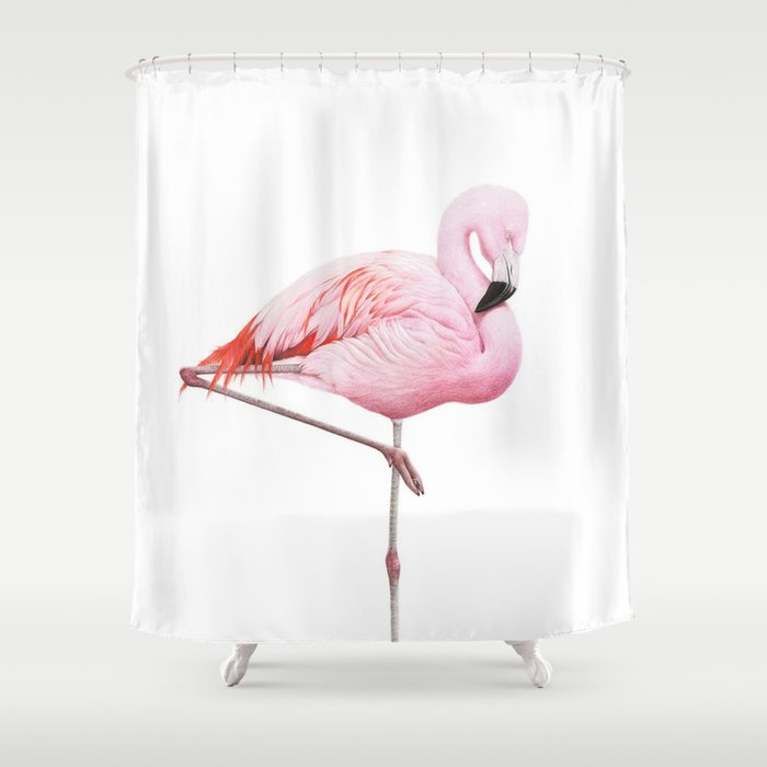Flamingo Shower Curtain By Vitor7costa