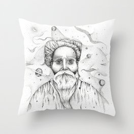 Aim for the moon, land in the stars Throw Pillow