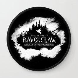 Ravenclaw B&W Wall Clock
