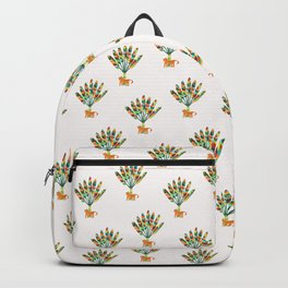 Whimsical travelers palm with tiger Backpack