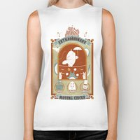 circus Biker Tanks featuring The Moving Circus by Teo Zirinis