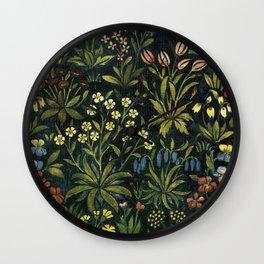 Remember Mille Fleurs Wall Clock