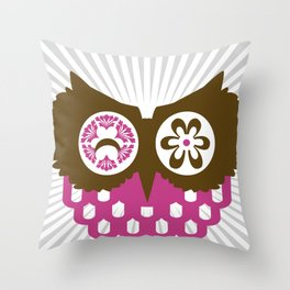 ALMOST SIMETRIC OWL Throw Pillow