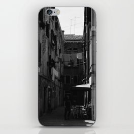 Calle Marcello b&w iPhone Skin