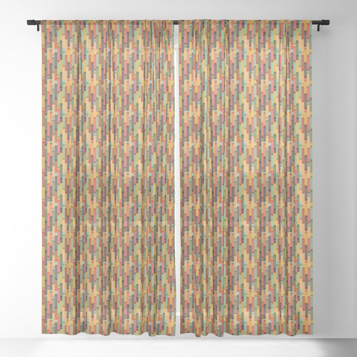 Retro Candy // Vintage Retro Candy Sheer Curtain