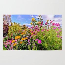 Cottage Garden Flowers Rug