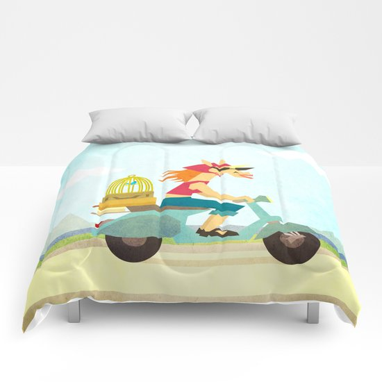 Enjoy the Ride Unicorn Comforters