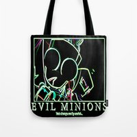 invader zim Tote Bags featuring invader zim gir by jjb505