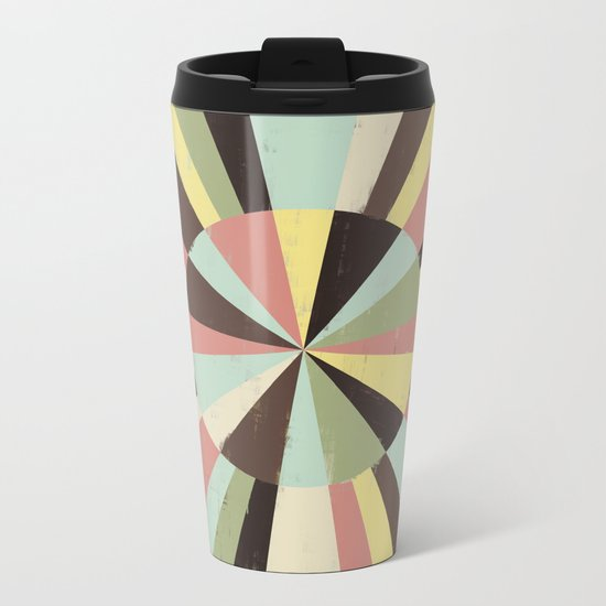 Color Wheel Metal Travel Mug