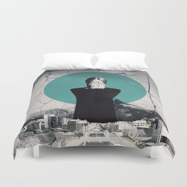 I'm closing my eyes to hear the people laugh ... Duvet Cover