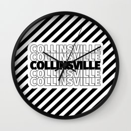 Collinsville USA CITY Funny Gifts Wall Clock