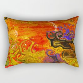 Orange Emotion Rectangular Pillow