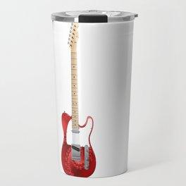 Guitar With Fractal Graphics Travel Mug