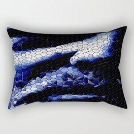 Blue portrait. Rectangular Pillow