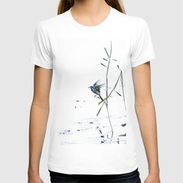 Little Bird (Wagtail - Eurasian Songbird) by The Reeds #decor #society6 #buyart T-shirt