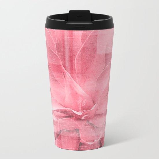 Abstract Leaves Metal Travel Mug