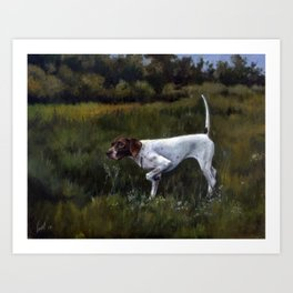 English Pointer in the Field Art Print