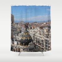 madrid Shower Curtains featuring Madrid Espana by Eduardo Doreni