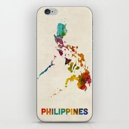 Philippines Watercolor Map iPhone Skin