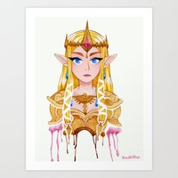 legend of zelda Art Prints featuring Zelda by Kai Texel