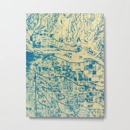 Rillito Creek Topo Metal Print