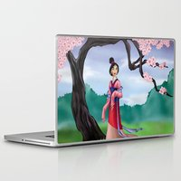 mulan Laptop & iPad Skins featuring Mulan by Rousetta