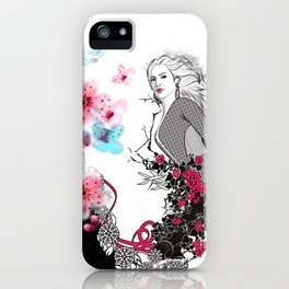 Nature and human harmony iPhone Case