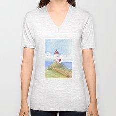 Peaceful Lighthouse Unisex V-Neck