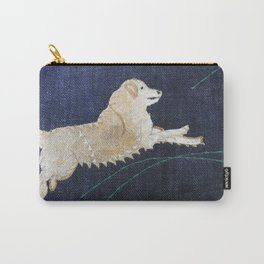 Golden Retriever on Textile by Jackie Wills Carry-All Pouch