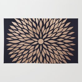 Rose Gold Flower Rug
