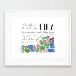 Fika Framed Art Print