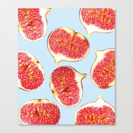 Red figs pattern #society6 Canvas Print