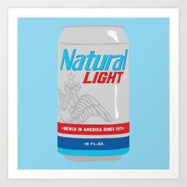 Natty Light Art Print