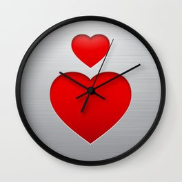 Valentines's Day Heart Wall Clock